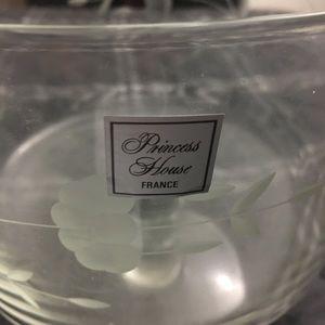 Princess House Large Dessert Bowl Crystal